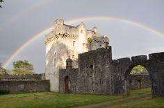 Saddell Castle, Kintyre, Argyll and Bute #landmarktrust #Scotland #rainbow