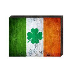 Irish Decor Irish Flag on Distressed Wooden Block - Vintage Decor - Home Decor - Wall Hanging - Gift Wooden Flag, Wooden Blocks, Wooden Wall Decor, Wood Wall Art, Wall Décor, Deco St Patrick, San Patrick, Union Jack, Glamping