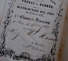 Page from an antique french book