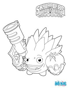 skylanders trap team coloring pages food fight - Skylander Coloring Pages Print