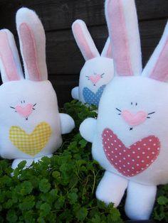 Plush Easter Bunny Toy by ayeshamosey on Etsy, £9.99