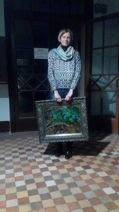 В крещатицких живописных мастерских. Геля. — Gelena Pavlenko