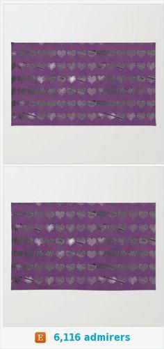 Purple Heart Floor Rug - Floor rug - Room Rug - Bathroom Decor - Photo Art Throw Rug - Made to Order