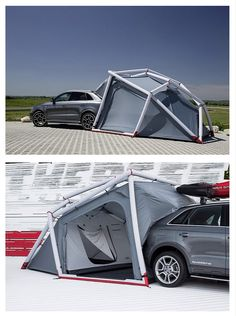 Quick and easy tent set up attached to your car!