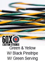 green yellow with black pin with black serving custom bow string color