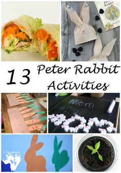 13 Peter Rabbit Activities - Virtual Book Club Activities - abc, name… Preschool Books, Toddler Preschool, Preschool Crafts, Easter Crafts, Fun Crafts, Crafts For Kids, Easter Ideas, Toddler Crafts, Rabbit Crafts