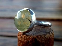 Prehnite  ring Prehnite with epidote ring Round  Green by anakim,