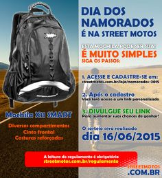 Leia o regulamento e boa sorte: streetmotos.com.br/regulamento