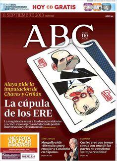 Los Titulares y Portadas de Noticias Destacadas Españolas del 11 de Septiembre de 2013 del Diario ABC ¿Que le pareció esta Portada de este Diario Español?
