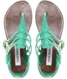 teal summer sandals - Polyvore
