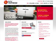 This is a great transportation website layout for any trucking company to review. Good photos. Common pages but good overall design. Nice transportation site design example.