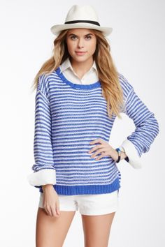 Romeo & Juliet Couture Striped Long Sleeve Sweater
