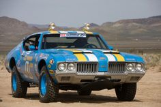 James Garner Baja Rig: 1970 Oldsmobile 442 - I'm not into muscle cars but an Olds 442 that belonged to & was raced by James Garner is a no-brainer.