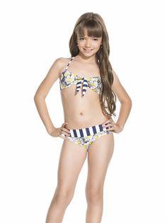 Neontide teen girls bandeau bikini with frill brief. Shop online ...