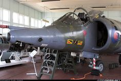 Residing in one of the teaching buildings at Cranwell is this former 4 Sqn Harrier - Photo taken at Cranwell (EGYD) in England, United Kingdom on July Air Force Aircraft, Fighter Aircraft, Fighter Jets, Scale Models, British Aerospace, Post War Era, Falklands War, United States Navy, Royal Air Force