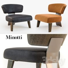Minotti CREED Armchair WOOD