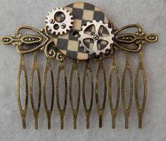 Steampunk Gears Hair Comb NEW Hair Pin Handmade Fashion Silver Gold Accessories #Handmade #HairComb http://www.ebay.com/itm/152058019257?ssPageName=STRK:MESELX:IT&_trksid=p3984.m1555.l2649