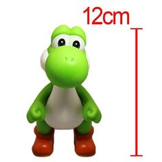 12cm Super Mario Bros. Game Anime Action Figure Yoshi Model Toy Doll Toy - Green ,Red