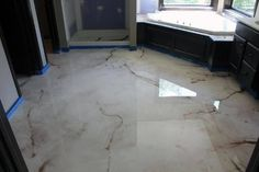 Marble Polished High Gloss Epoxy Concrete Floor Ideas
