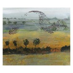 Starlings by Richard Sorrell, The Royal Watercolour Society RWS – Dry Red Press Art Society, Fine Art, Watercolor, Beautiful Greeting Cards, Painting, Art, Arts And Crafts, Bird Art