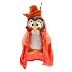 Disney Owl Plush - Small - 10 - Sleeping Beauty - When Briar Rose shares her vision of true love, her forest friends disguise themselves as a ''Mock Prince'' to create a moment ''Once Upon a Dream. Disney Stuffed Animals, Cute Stuffed Animals, Disney Girls, Baby Disney, Disney Rooms, Disney Sleeping Beauty, Disney Plush, Disney Merchandise, Soft Dolls