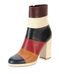 633f2ff6102e Valentino Garavani Colorblock Leather Ankle Boot