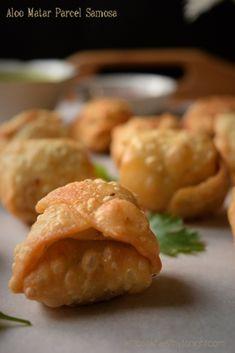 Diwali Snacks- Aloo Matar Parcel Samosa
