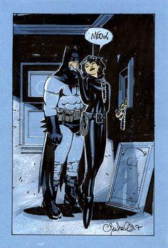 Batman & CatwomanbyChris Bachalo ®