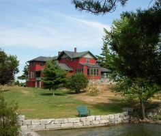 Whiskey Island Lodge located on the St. Lawrence River in the Thousand Islands Region. Rent private island for $8500 week/$566pp