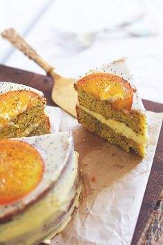 Gluten Free Orange Almond Poppy Seed Cake Complements A Tea Book And Rainy