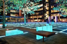 Finsbury Avenue Square, London, UK Client: British Land Architect: SOM London Lighting Design: MBLD - Maurice Brill Lighting Design Luminaries and Control: Artistic Licence