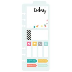 Sticky Notes Bookmark | Simple Stories