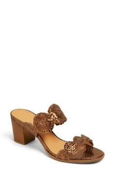 Tonal whipstitch trim furthers the rustic style of this standout stacked-heel sandal. Style Name:Jack Rogers Lauren Slide Sandal (Women). Style Number: Available in stores. Leather Mules, Black Leather, Brazil Women, Anniversary Sale, Palm Beach Sandals, Jack Rogers, Slide Sandals, Open Toe