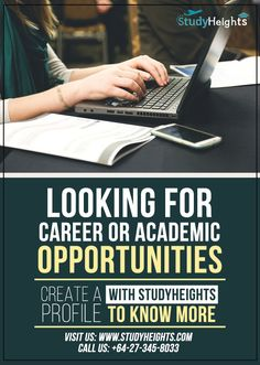 Get best career opportunity to study in abroad by just creating academic profile online.