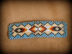 Old Pawn Beaded Hair Barrette Clasp Southern Ute