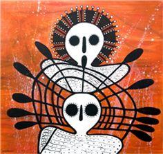 Donny Woolagoodja Wandjina painting