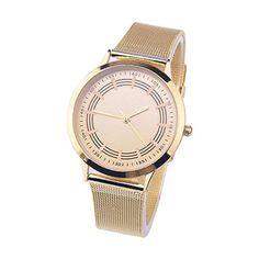 ea8eb79652d Bolayu Vogue Metal Analog Quartz Wrist Watch Alarm Clock Printing Gold --  See this great