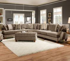 Six Person Sectional Sofa for Fresh and Stylish Family Rooms