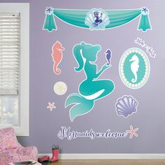 Check out Mermaids Under the Sea Giant Wall Decals from Wholesale Party Supplies