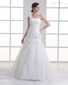 Robe de mariée romantique pendant organza de cristal de traîne longue manche nulle - Photo 1