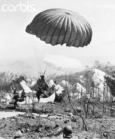 World War II Paratroopers Landing on Corregidor - U752049ACME - Rights Managed - Stock Photo - Corbis. Paratroopers of the 503rd Parachute Infantry Regiment land on the rocky terrain of Corregidor Island. They are on a mission to drive Japanese troops from the small Philippine island.