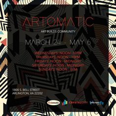 Greetings Everybody. It's almost that time again. I along with my fellow amazing artists will be giving you Artomatic 2017 in Crystal City VA! Opening day will be March 24th and the exhibit will run until May 6th. There will be many types of art for everyone to enjoy so tell a friend to tell a friend. We can't wait to see you! Flyer Design by Dreams Alley Design Loft  #artomatic2017 #art #design #illustration #fashion #painting #photography #music #interiordesign #jewelry #webdsign…