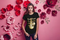 Knock Knock it's prosecco o'clock ladies t-shirt cool funny t-shirt tee top shirt great gift present idea for girls ladies sexy t-shirt Top Drinks, Mom And Daughter Matching, Ladies Tops, Tee Shirts, Tees, Prosecco, Oclock, Knock Knock, Album Covers