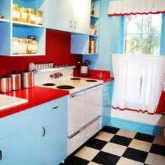 50's style kitchen.