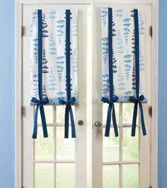 Create a cool area in your home with these french door shades. Learn how to make your own! #joannhandmade