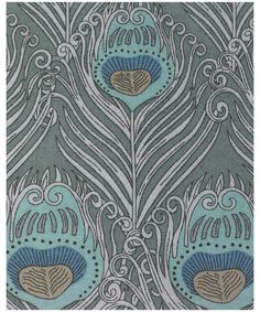 my favorite Liberty of London fabric - I want to draw on this as a color palette.