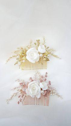 Magnolia Bridal hair comb, Wedding hair comb, Bridal headpiece, Wedding headpiece, Bridal hair piece, Wedding hair piece, Bridal head piece