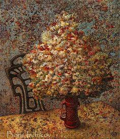 BOUQUET. 1999 oil on canvas 60 X 70 cm .