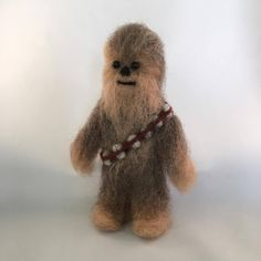 Here's my latest woolly. I just love Chewbacca. #woollyfriendwednesday #popgoesthewool #woolly #feltedwool #needlefelting #feltart #felting #chewbacca #starwars