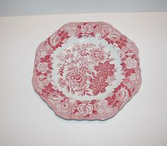 2 Spode Plates Archive Collection  Pink on by StetsonCollectibles